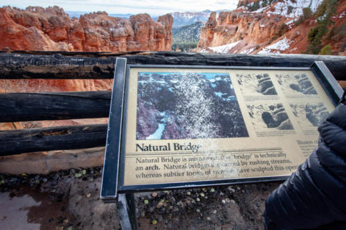 18-Mile Scenic Drive Natural Bridge Overlook at Bryce Canyon National Park #vezzaniphotography